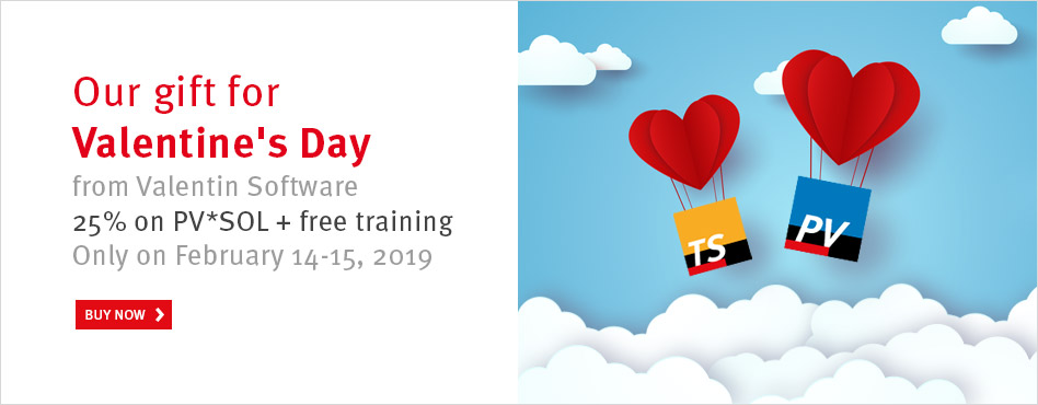 Valentin's Day special: PV Sol Sizing Software at 25% off | maxx